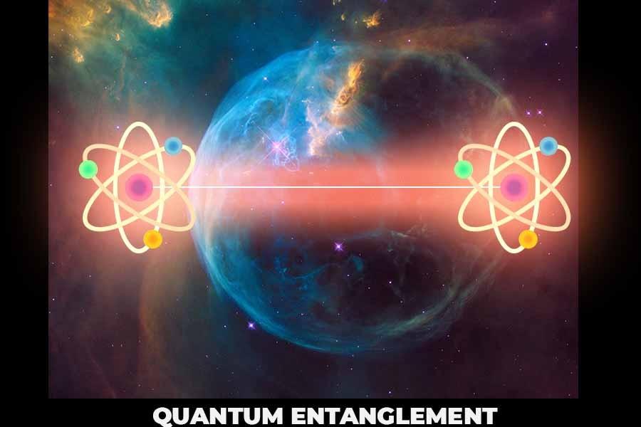 A picture showing quantum entanglement