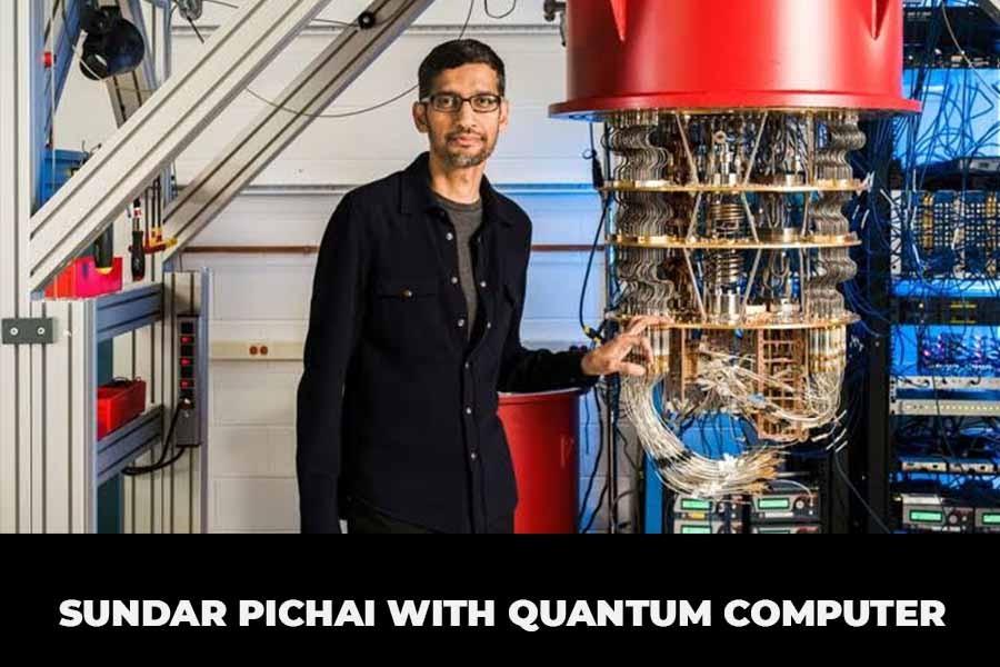 Sundar Pichai with a Quantum Computer