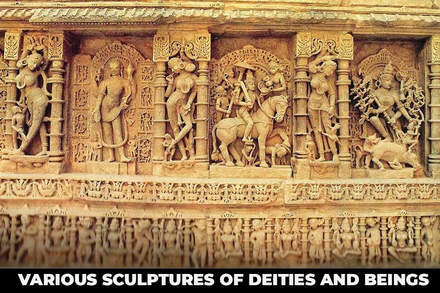 Rama Incarnation with various sculptures of deities and beings
